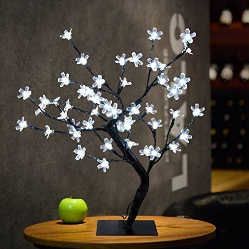 Excelvan Cherry Blossom Tree 0 45m 1 5ft 48led Black Bran Https Www Amazon Co Uk Dp B01m00098k Ref Cm Sw R Pi Dp U X Tree Lamp Fairy Lights Tree Lighting