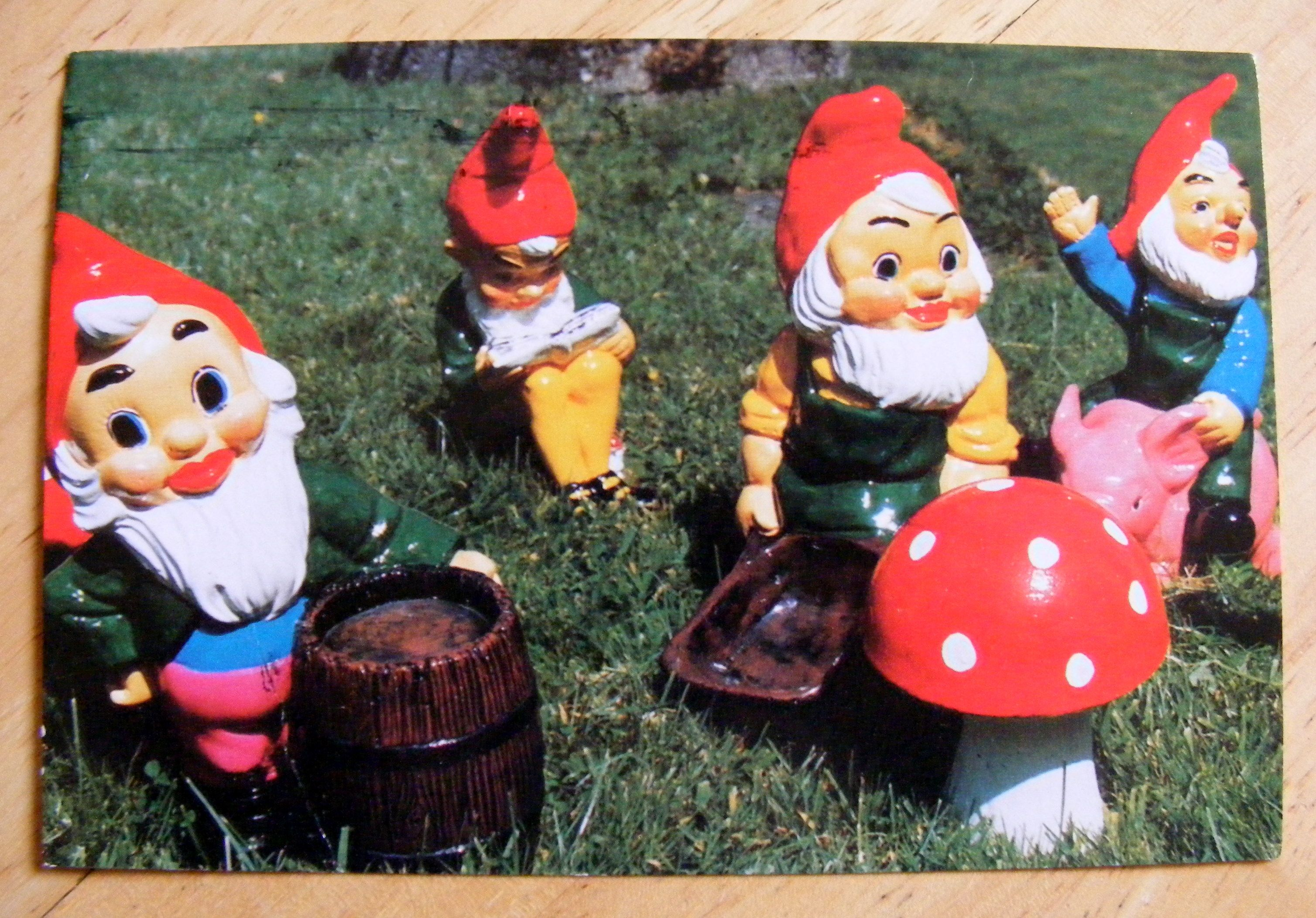 a postcard from The Gnome Reserve (North Devon, UK http