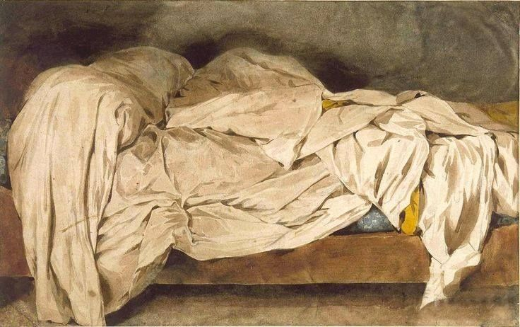 Image result for Delacroix the unmade bed