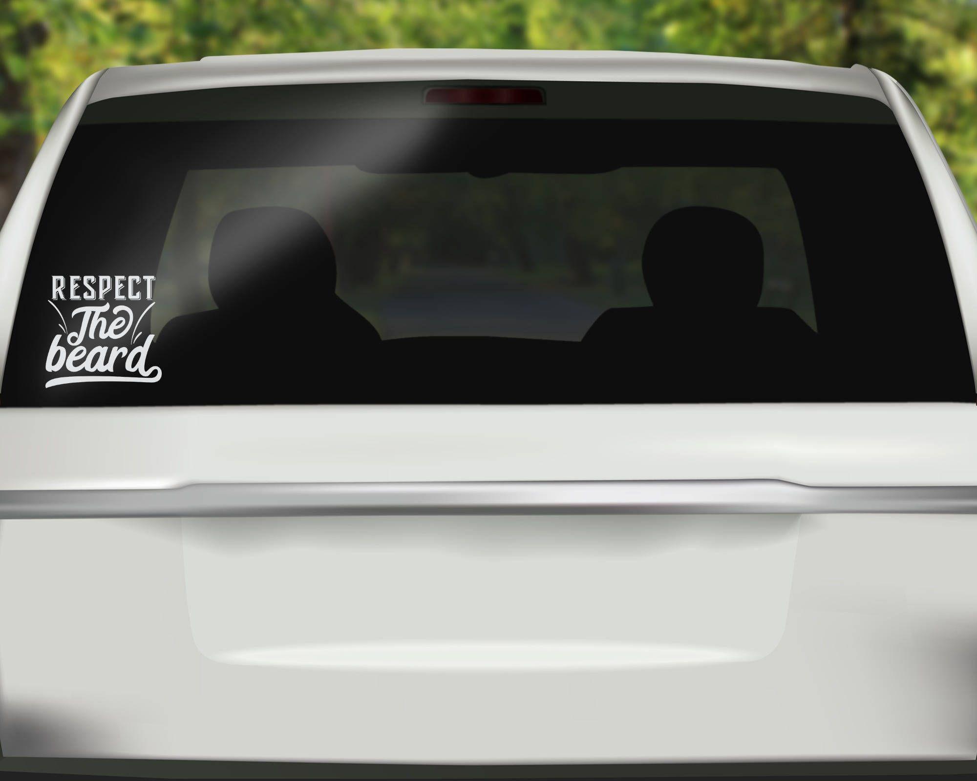 Respect the beard decal beard lover car decal mustache sticker beard sticker bumper sticker vinyl decal car stickers by spencervinyl on etsy