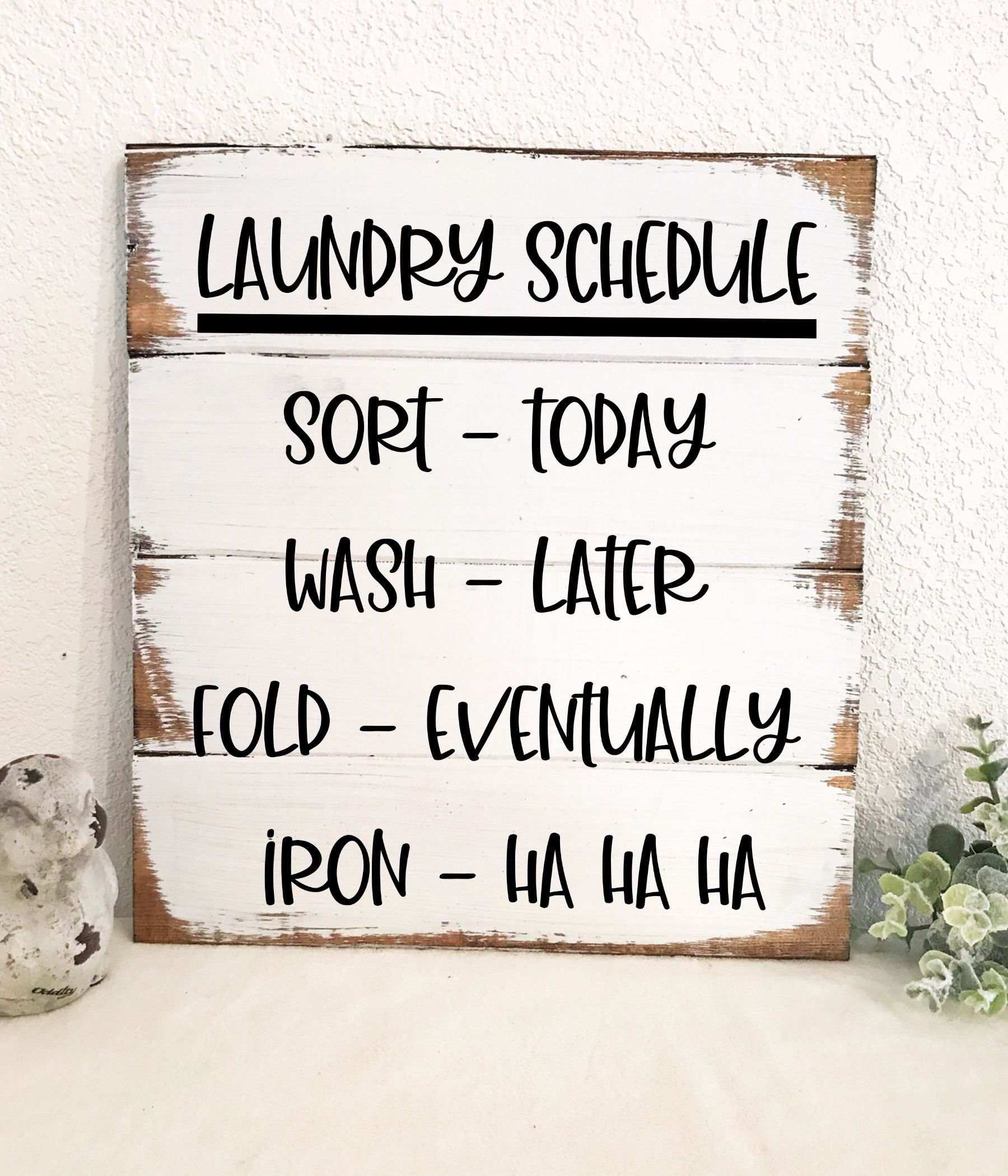 Laundry schedule sort today wash later fold