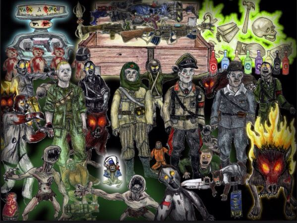 cod zombies drawing