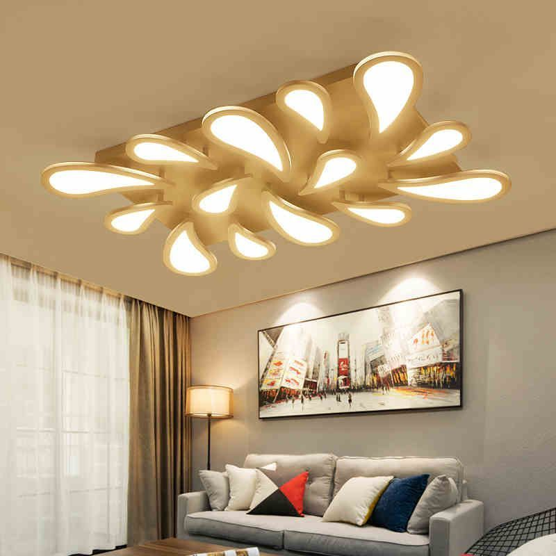 Modern Led Acrylic Water Droplets Ceiling Lights Fixtures Brightness Dimmable For Dining Room Living With Images Living Room Lighting Lamps Living Room Living Dining Room