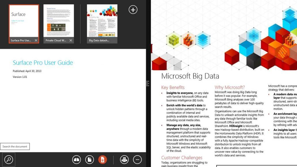 Microsoft updates its free Windows 8 Reader app, still