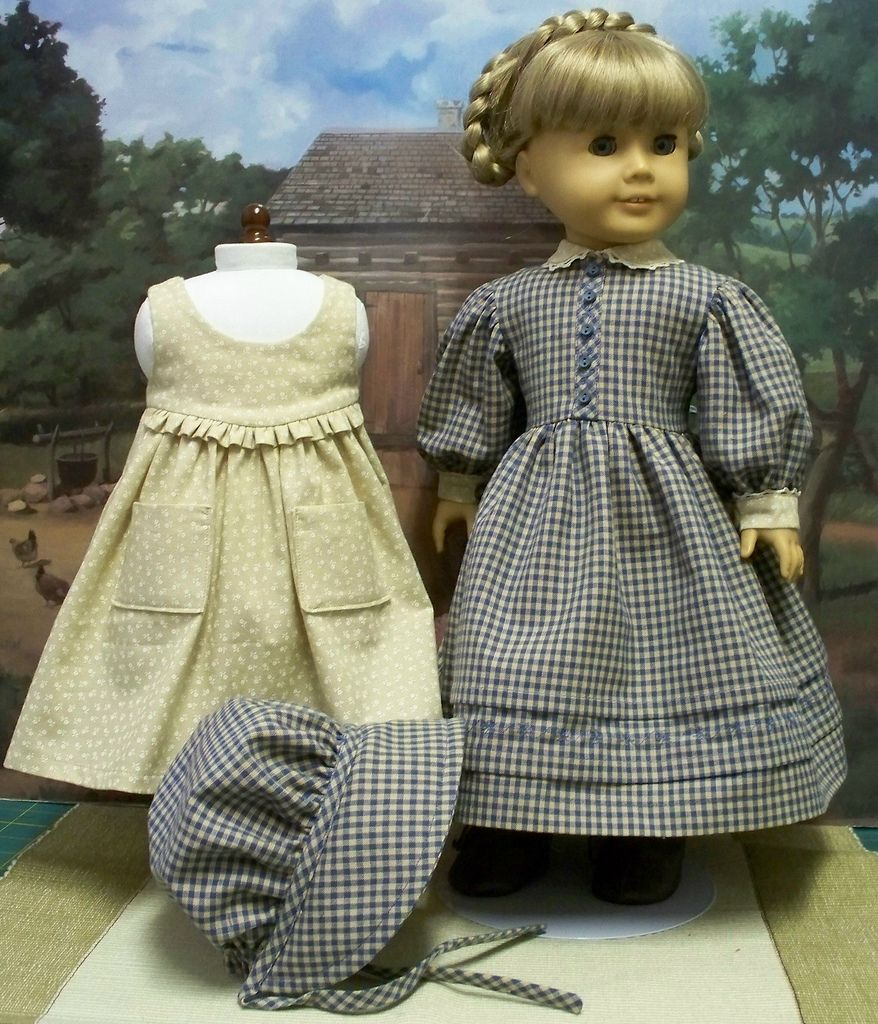 All sizes | 1854 Gingham Gown and Bonnet, Caliaco Pinafore | Flickr ...