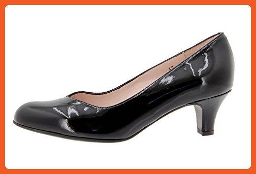 PieSanto Women s 9225 Black Leather Court shoe Comfort Extra Wide 33 W EU  (2.5 - 447b1397ec32