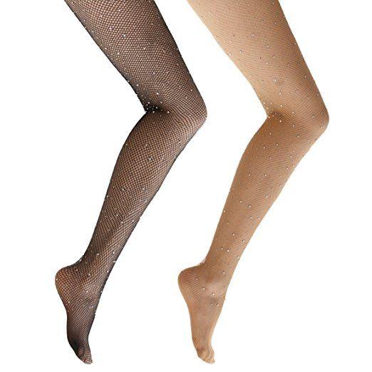 dfd9e97446e2e Ypser Fishnet Tights Mesh Stockings Sparkle Rhinestone Glittering Net  Pantyhose at Amazon Women's Clothing store: