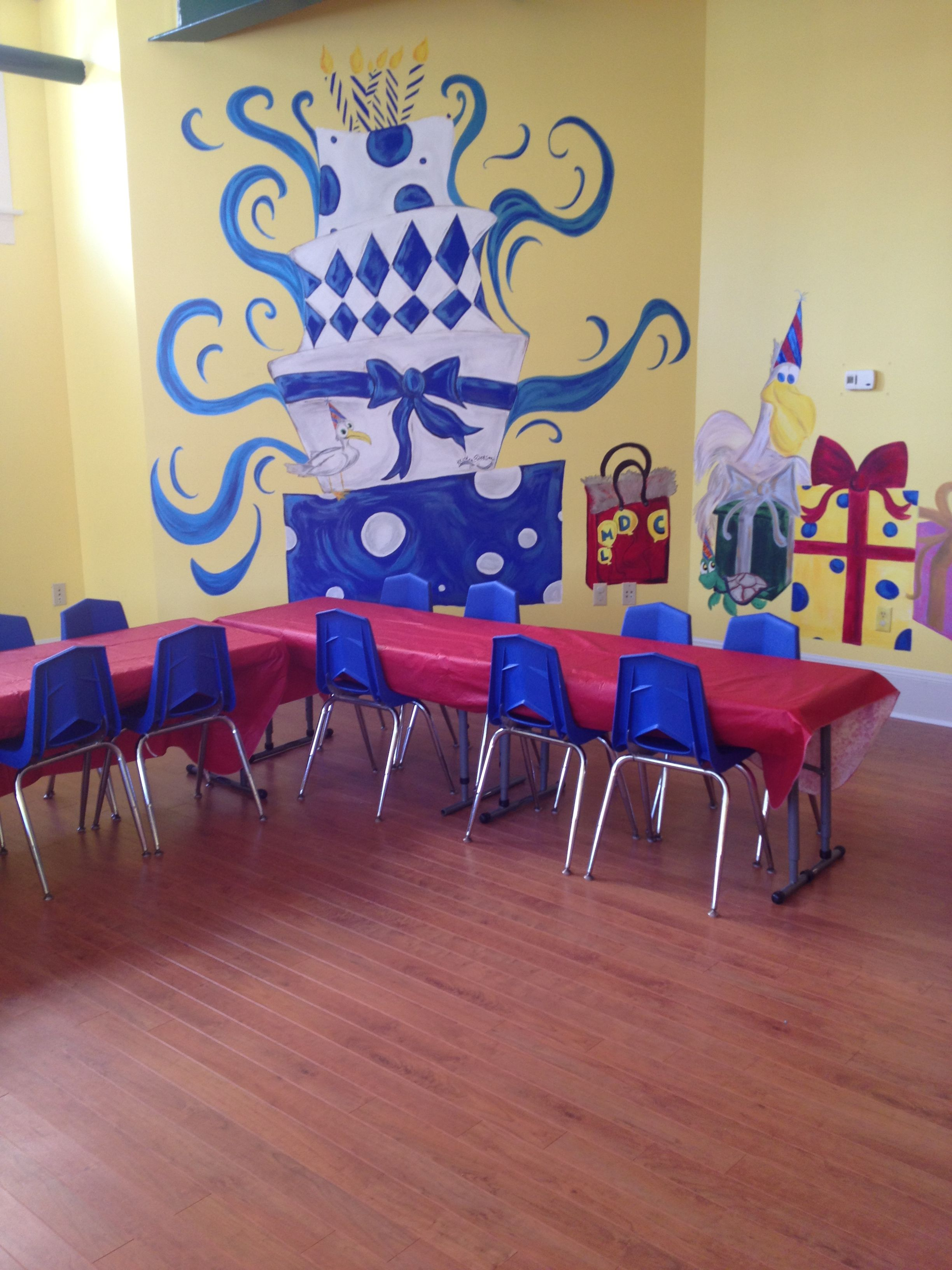 Fun kids class room with easy care laminate flooring