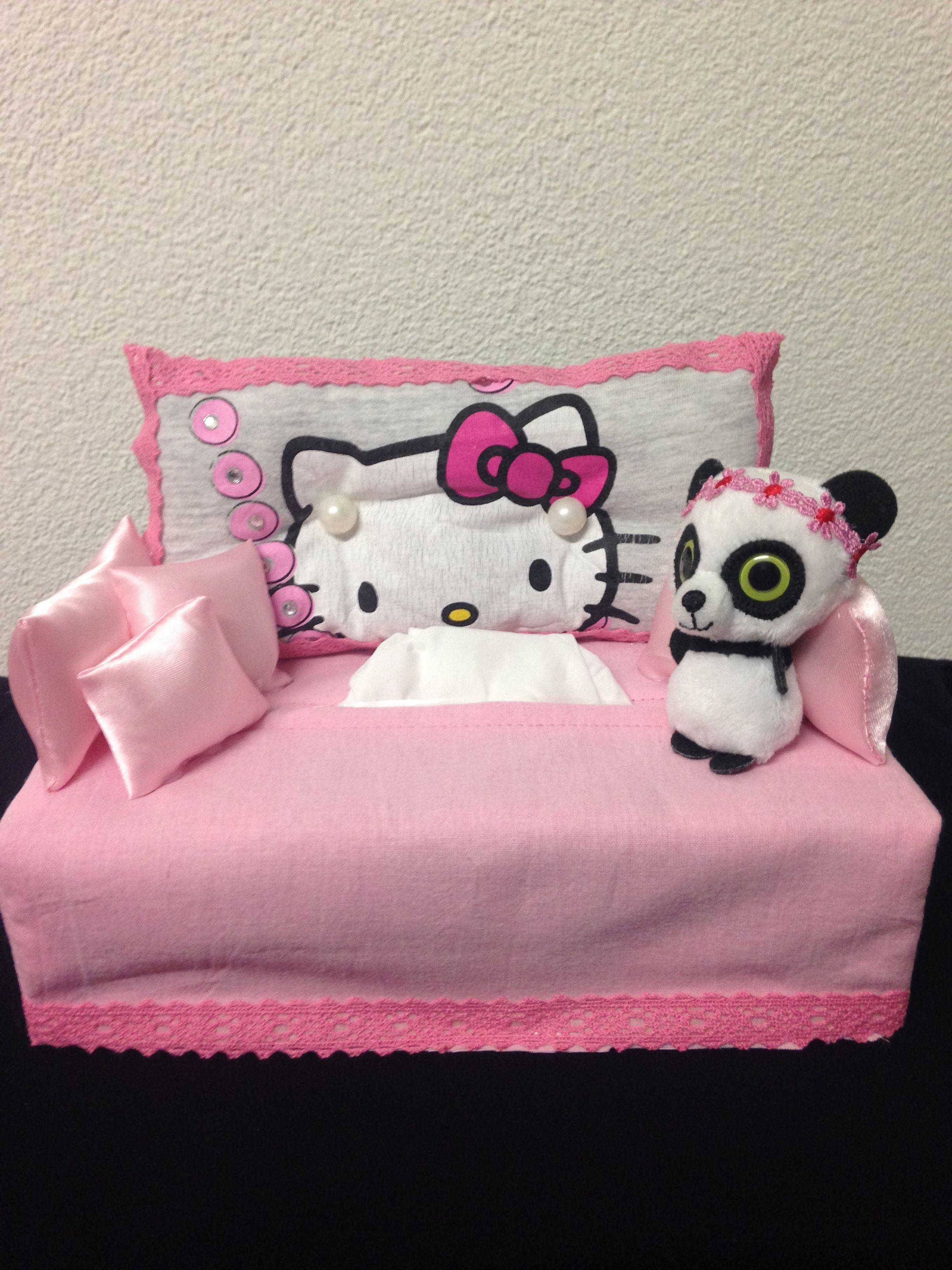 Copriletto Trapuntato Hello Kitty.Divano Hello Kitty Portakleenex Manualidades Para Cajas De Clinex