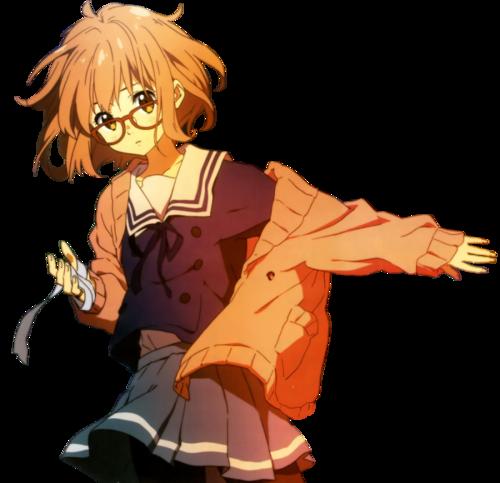 anime kawaii skirt transparent render knk Kyoukai no