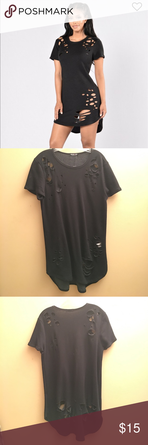 Fashion nova t shirt dress never worn! Edgy t shirt dress. Never worn. Best fits size m/l. Dresses