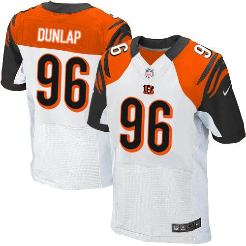 734628c01a0 Nike Elite Carlos Dunlap White Men s Jersey - Cincinnati Bengals  96 NFL  Road