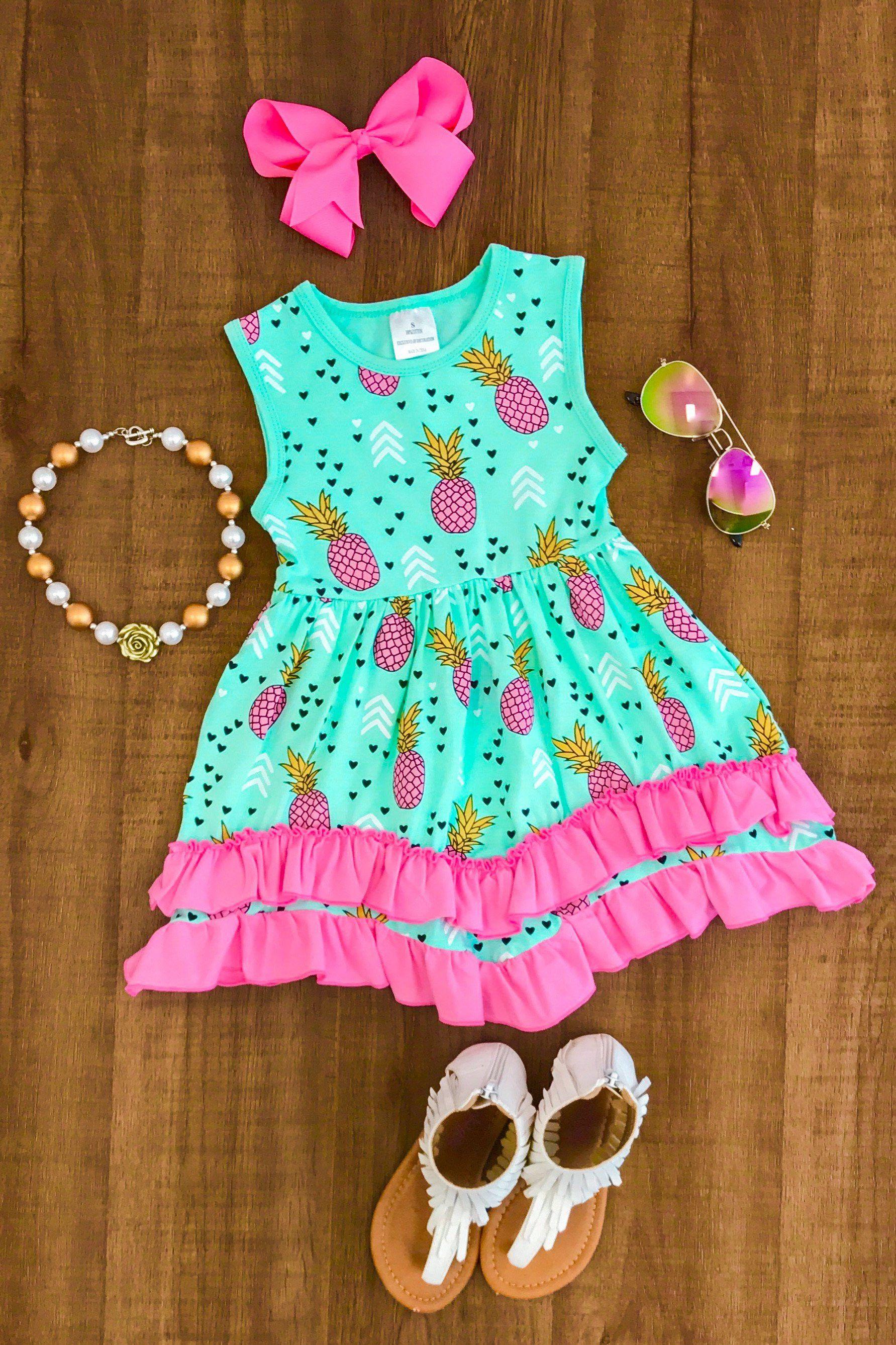 Paulina Pineapple Ruffle Dress Dresses Pinterest