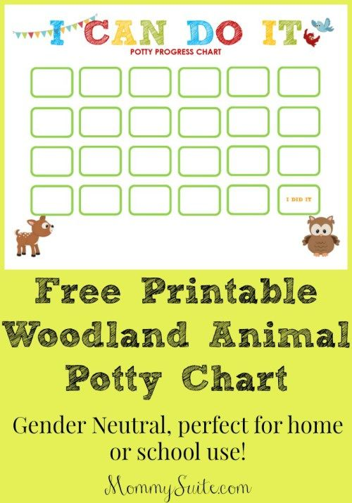 potty training a toddler can be difficult give your little one an incentive to go with this woodland animal potty progress sticker chart