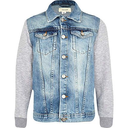 Boys denim jacket with jersey sleeves £25.00