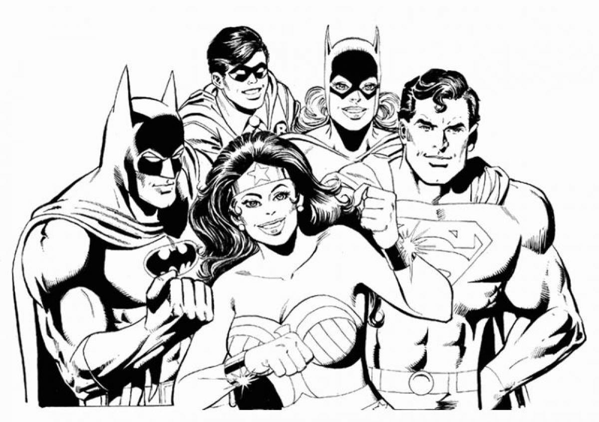 Pin By Mindofmilla On Comic Superhero Coloring Pages Superman Coloring Pages Batman Coloring Pages