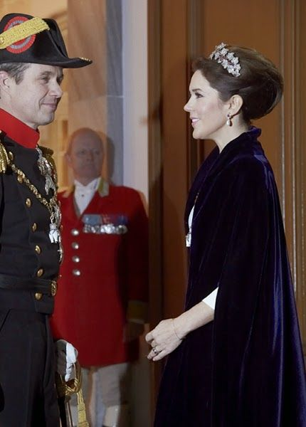 Members of the Danish Royal arrive for the annual New Years Day gala held at Amalienborg Palace. 2015