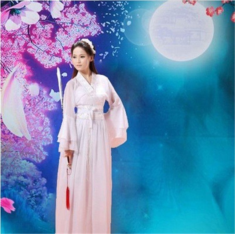 七仙女舞蹈服装_古装汉服女齐胸襦裙七仙女舞蹈服装唐朝中国风侠女公主演出服