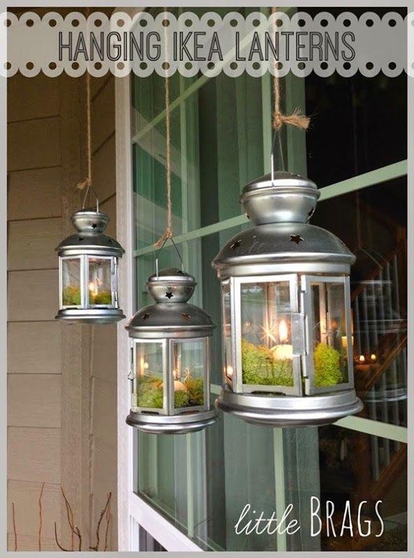10 Plus Inspiring Spring Ideas Front Porch Decorating Moss Decor Ikea Lanterns