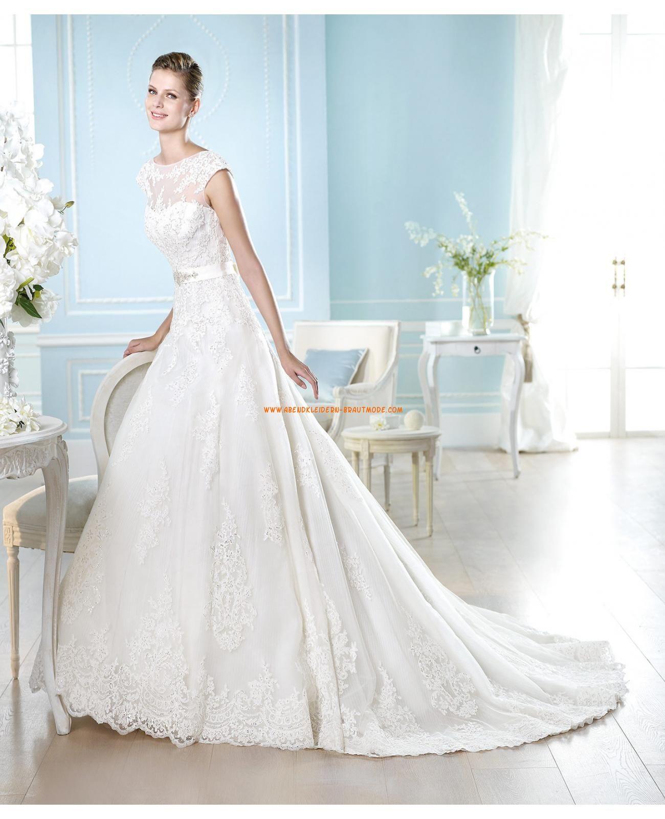 Klassische Hochzeitskleider aus Satin A-Linie rückenfrei   Wedding ...