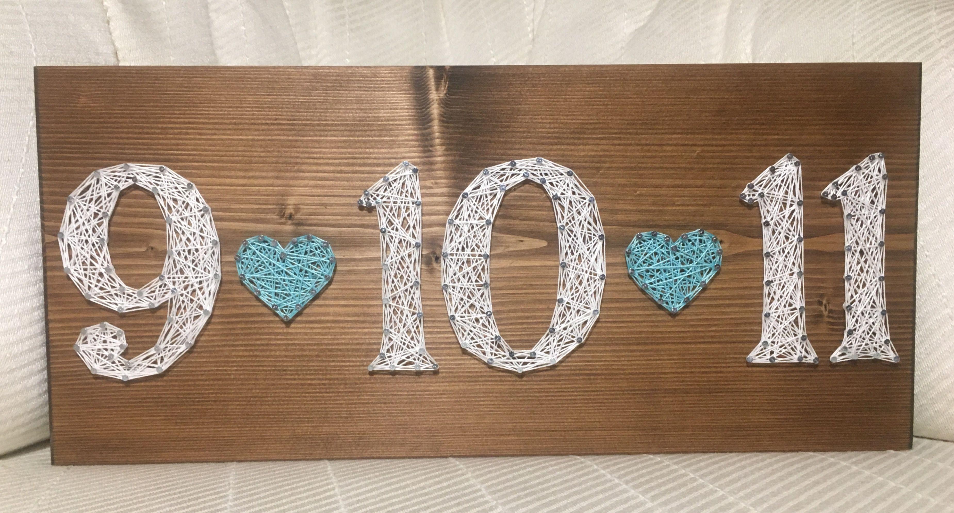 Wedding anniversary date string art order from kiwistrings on etsy