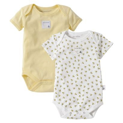 Burts Bees Baby Clothes Captivating Burts Bees Baby™ Newborn Neutral 2 Pack Shortsleeve Bodysuit Inspiration