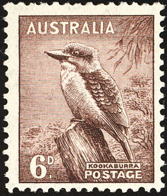 Laughing Kookaburra stamps - mainly images - gallery format