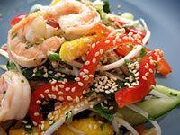 Salad Recipe: Thai Mango Salad with Grilled Prawns (mod for w30)