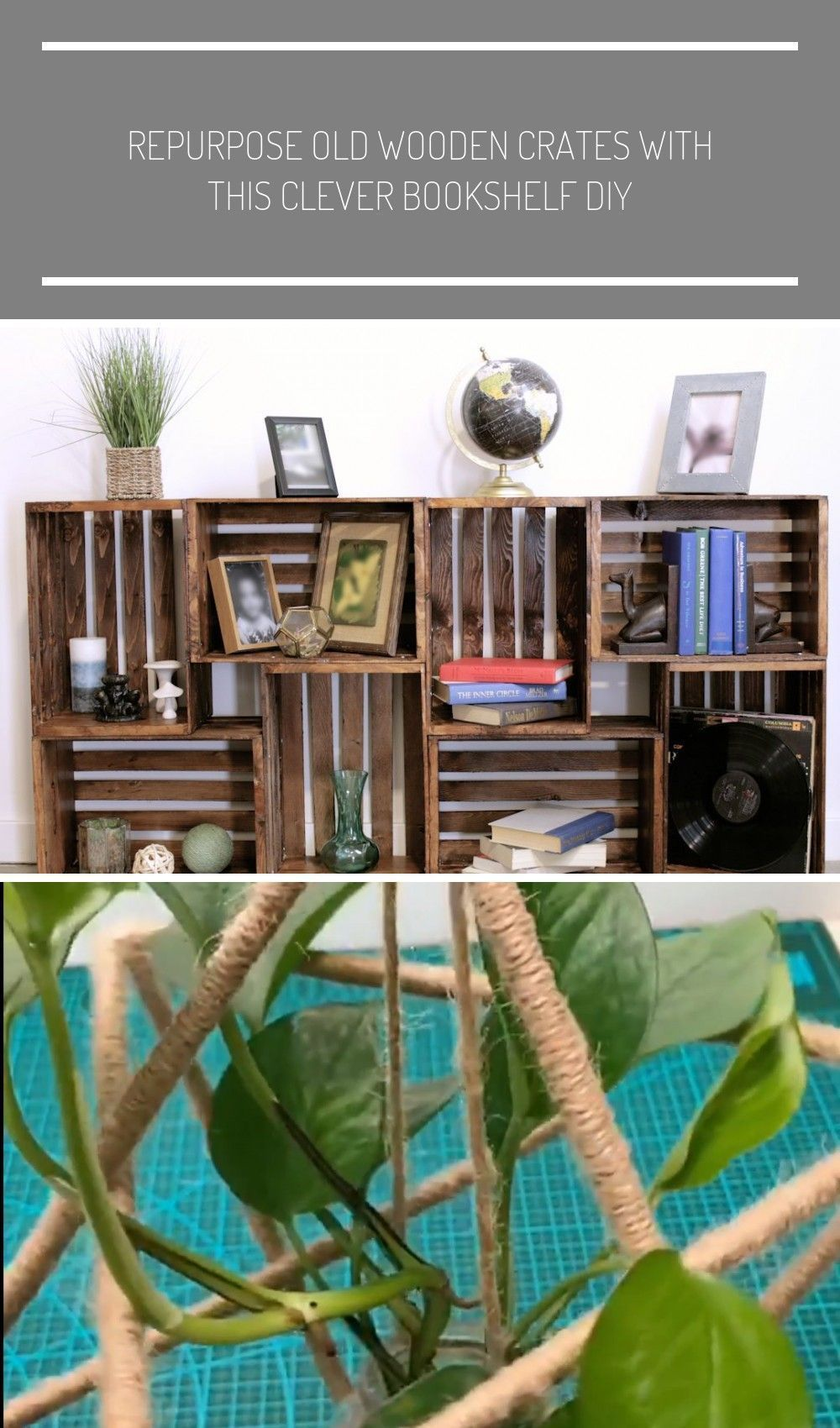Photo of DIY Holzkiste Bücherregal #diy Projekte für draußen Wiederverwenden alte Holzkisten …., #ALTE # außerhalb …
