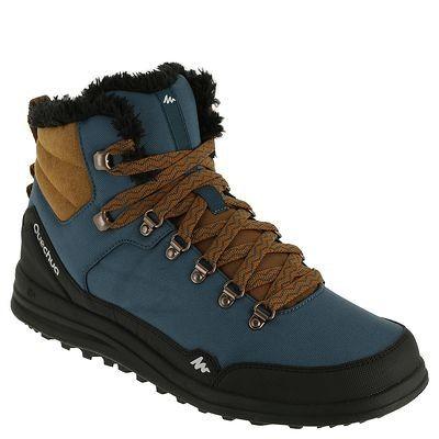 Chaussures randonnée Randonnée, Camping , Chaussure Arpenaz 100 Mid Warm  QUECHUA , Chaussant randonnée DARK_BLUE