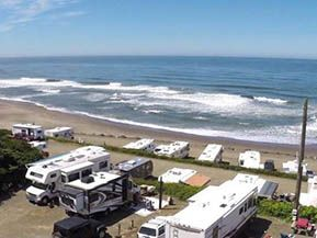 Sea And Sand Rv Park In Depoe Bay Oregon Offers Oceanfront