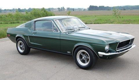 1968 Ford Mustang GT Fastback 390 Bullitt Clone Front  Vintage