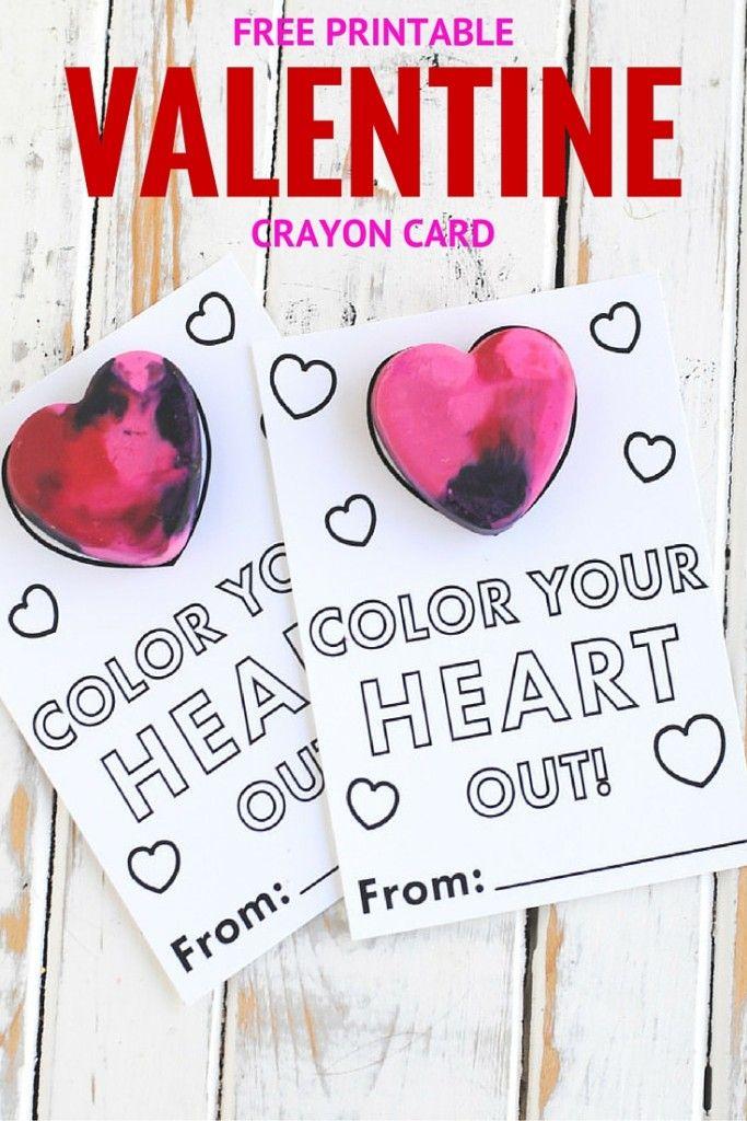 free printable crayon valentine card free printable valentines crayon valentine sayings