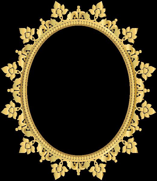 Oval Decorative Border Frame Transparent Clip Art PNG Image