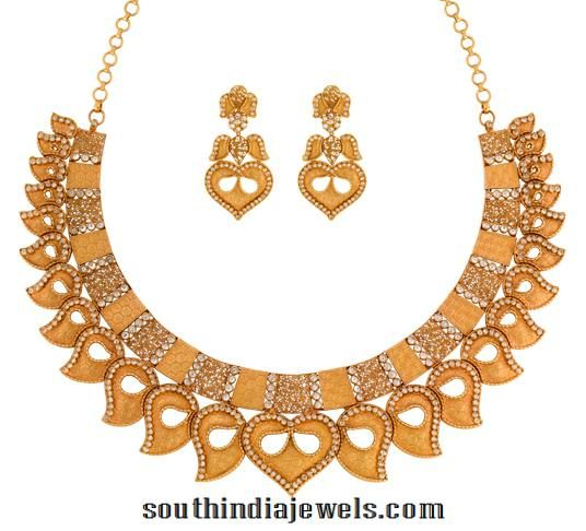 be9fe61dbdd45 Gold Necklace with Earrings from Joyalukkas | jewelry | 18k gold ...