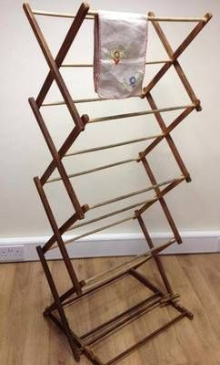 Vintage Wooden Clothes Horse Airer Display Ebay Boutique