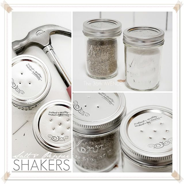 Tutorial: DIY Salt and Pepper Shakers... Easy, fast and perfect for the kitchen !   #Jars