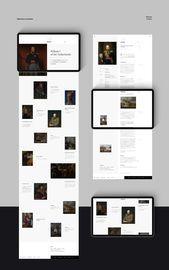 Minimalist Mobile and Desktop Web Design Concept for