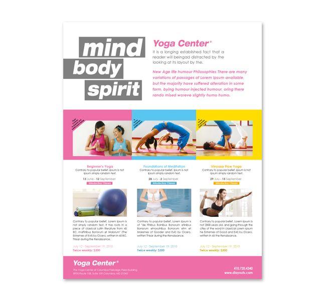 Yoga Instructor \ Studio Flyer Template http\/\/wwwdlayouts - yoga flyer