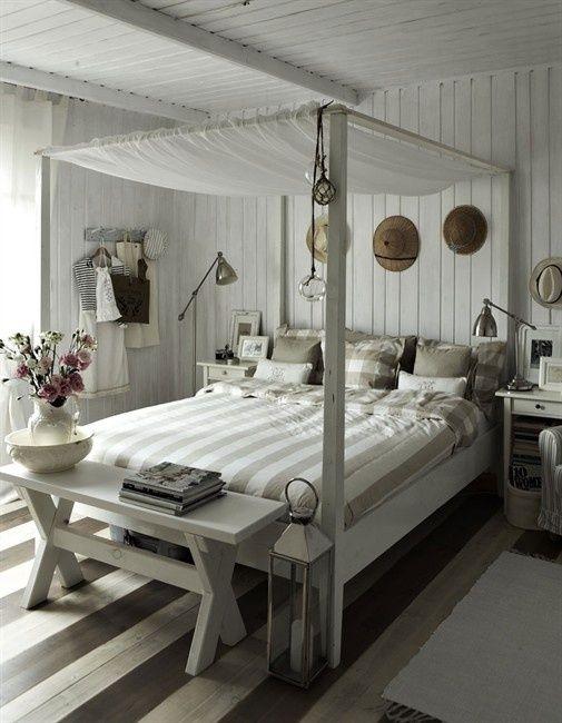 Floors, Bed, Wallsahhhh Cottage Style Homes Pinterest - landhaus schlafzimmer weiß