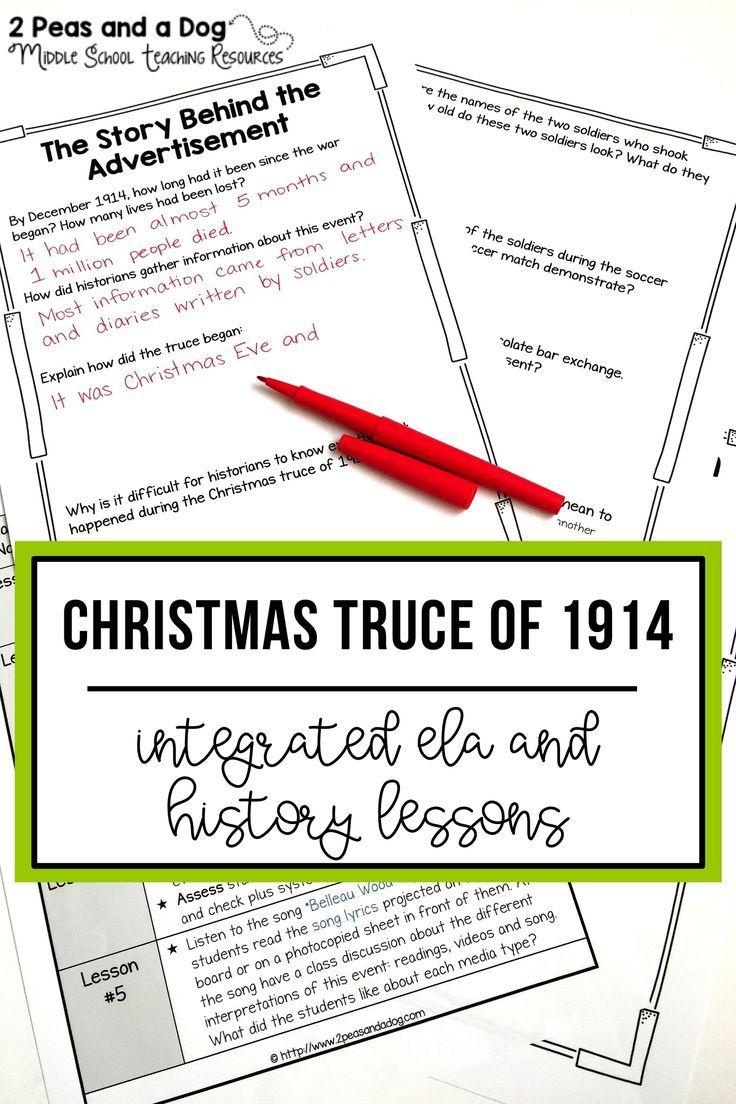 Christmas Truce of 1914 Media Analysis Unit | Student learning ...