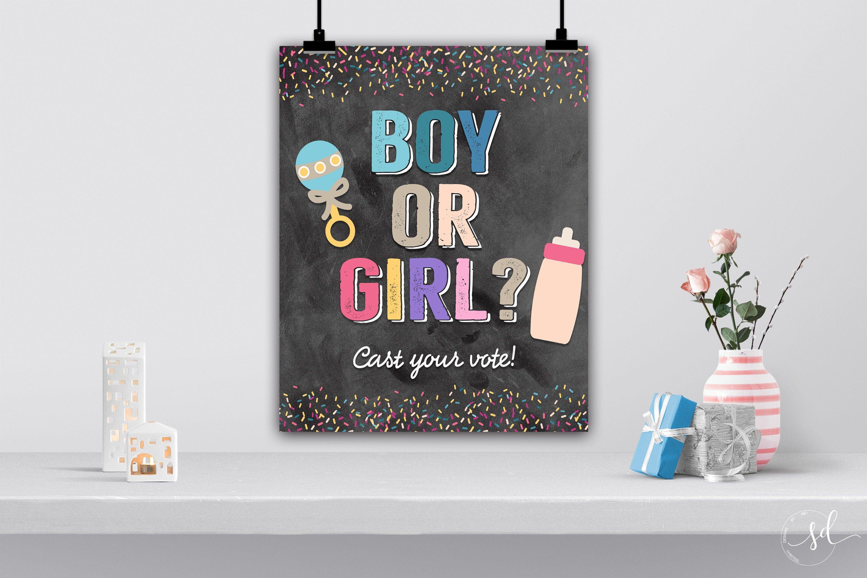Donut Baby Shower Welcome Sign Gender Neutral Pink Blue Donut Baby Shower Poster Board Donut Baby Sprinkle