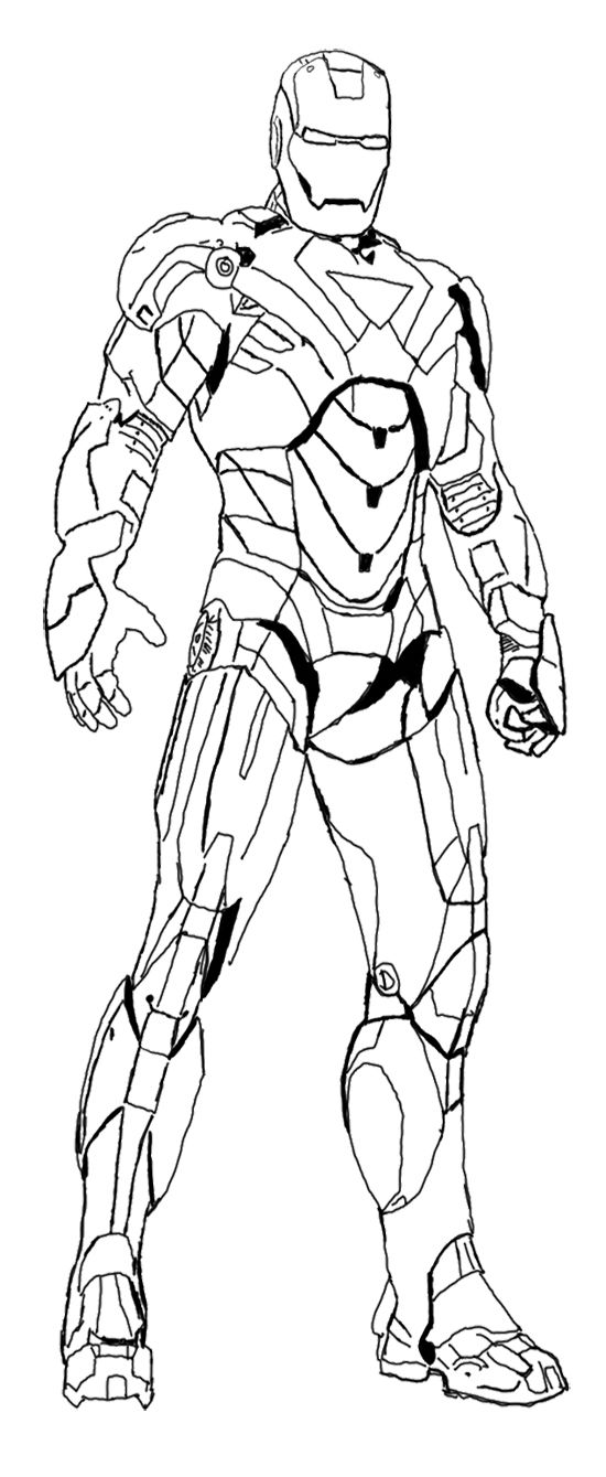 heroes iron man coloring page