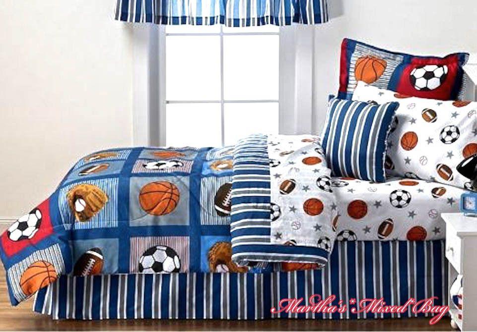 all sports boys bedding football