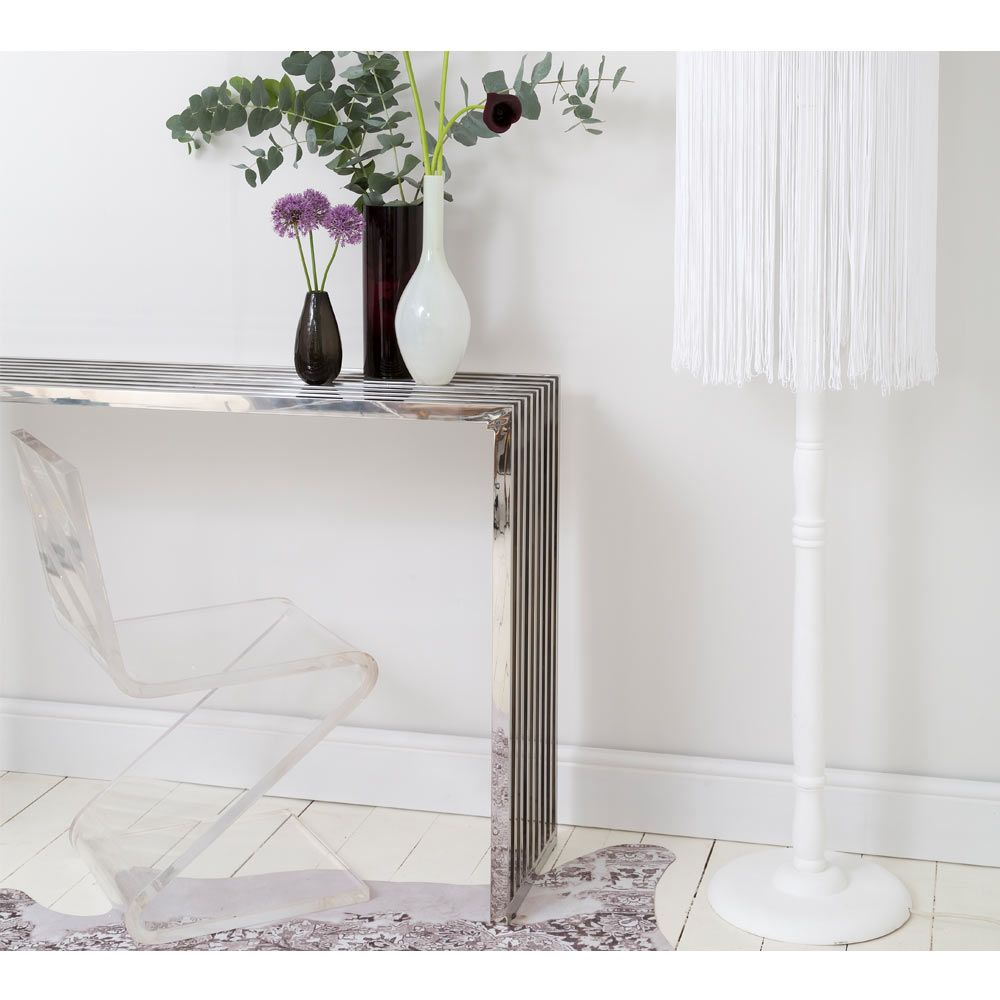 ny ny chrome console table frenchbedrooms chrome on small entryway console table decor ideas make a statement with your home s entryway id=78346