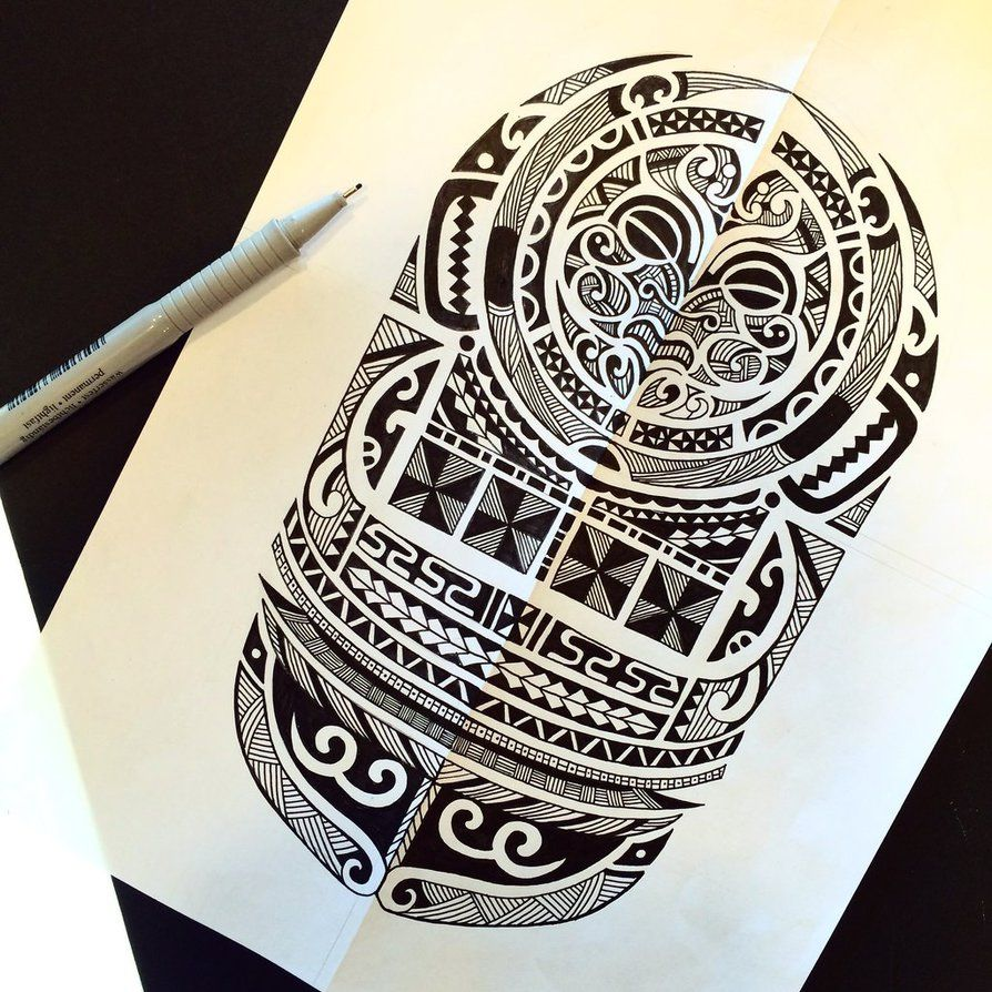 Maori Style Tattoo Designs: Maori Tattoo Design By Rabbittc On