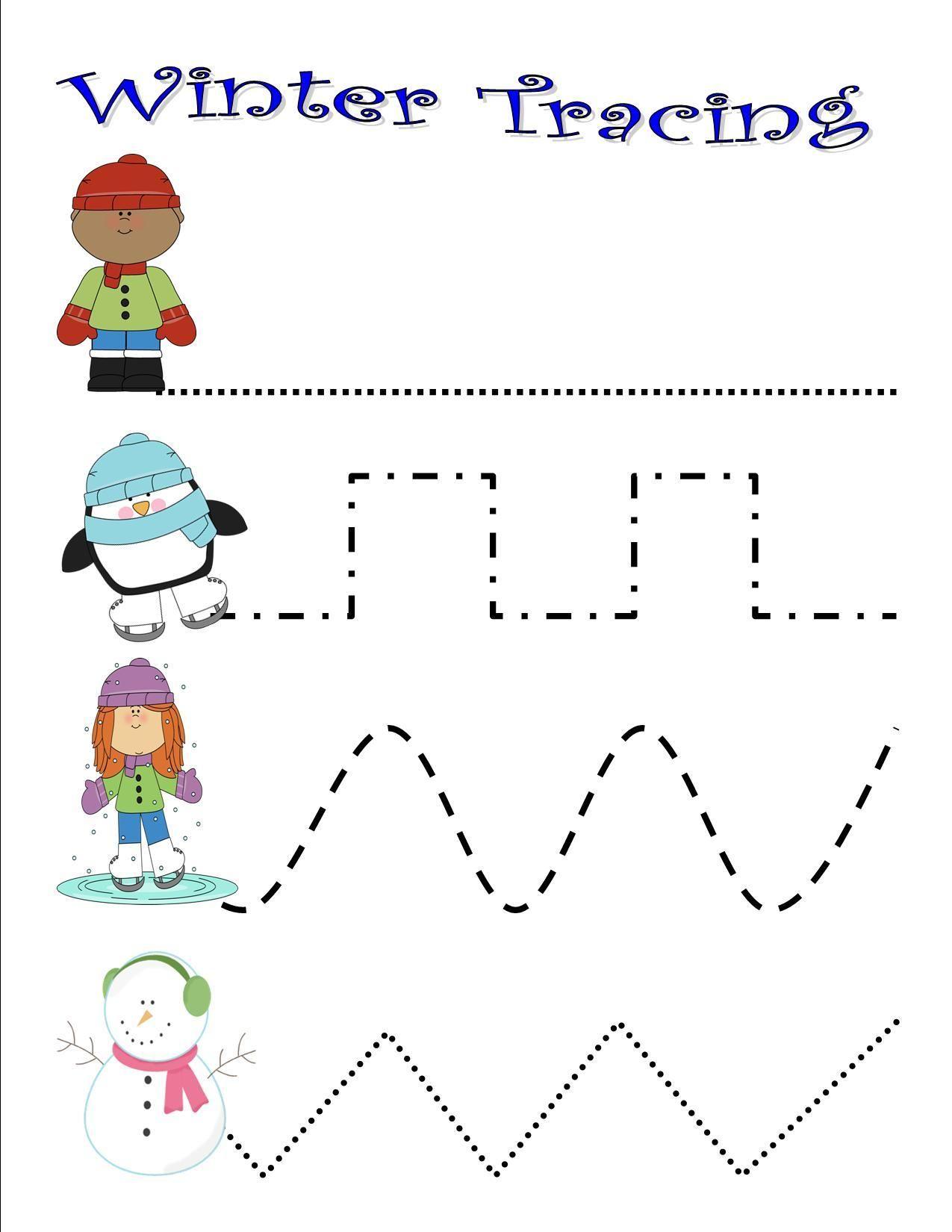 Winter Tracing Winter Activities Preschool Winter Theme Preschool Winter Preschool [ 1650 x 1275 Pixel ]