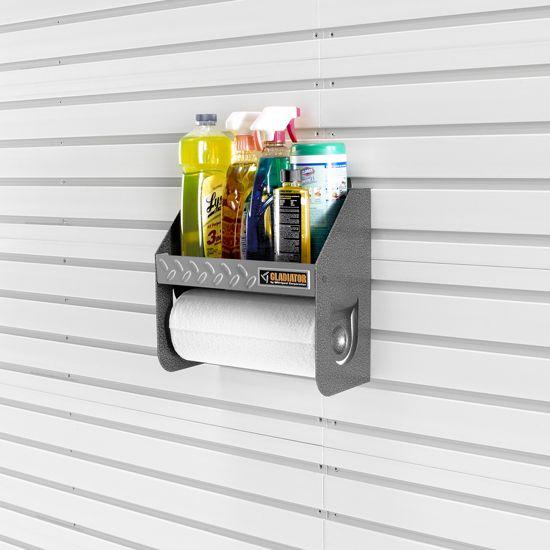 Gladiator Garage CleanUp Caddy on slatwall found on