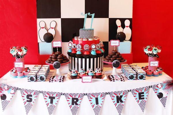 kindergeburtstag deko jungs bowling thema cupcakes julien. Black Bedroom Furniture Sets. Home Design Ideas