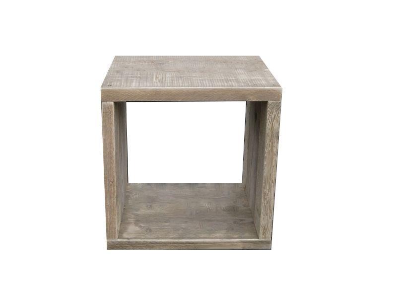 Viereckiger Bauholz Hängewürfel - Bauholz Möbel Bauholz Design - beistelltisch für küche